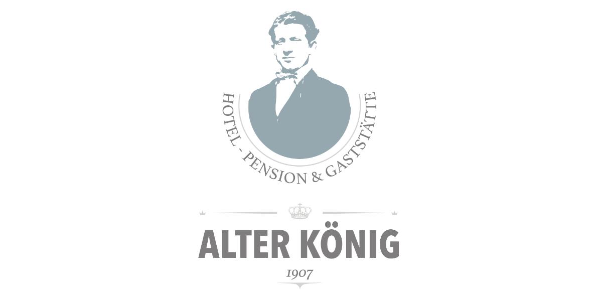 Logo Alter König Hotel Pension & Gaststätte seit 1907