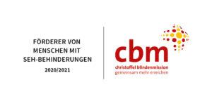 Logo cbm Förderer von Menschen mit Sehbehinderungen 2020/2021
